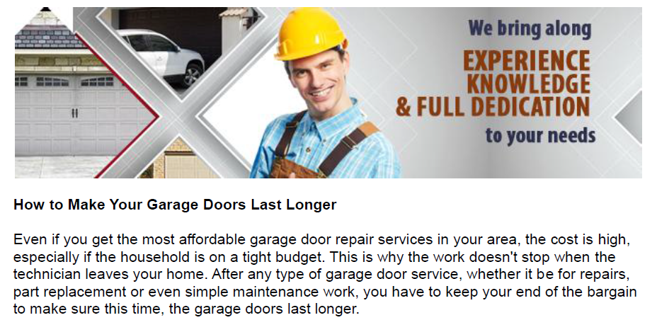How to Make Your Garage Doors Last Longer - Garage Door Repair San Gabriel